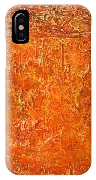 Land In Orange IPhone Case