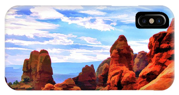 Land Of Moab - Watercolor IPhone Case