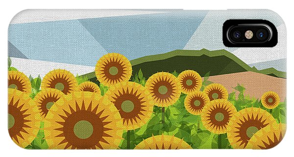 Sunflower iPhone Case - Land Of Sunflowers. by Absentis Designs