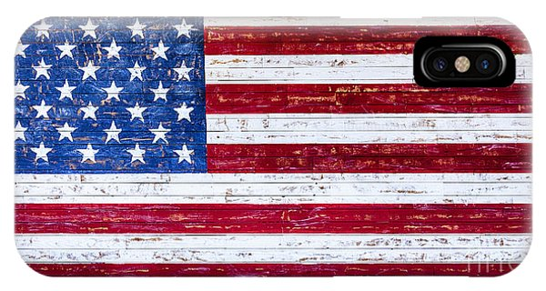 IPhone Case featuring the photograph Land Of The Free,american Flag Canvas Print,photographic Print,art Print,framed Print,greeting Card, by David Millenheft