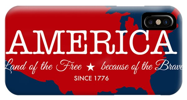 American iPhone Case - Land Of The Free by Nancy Ingersoll