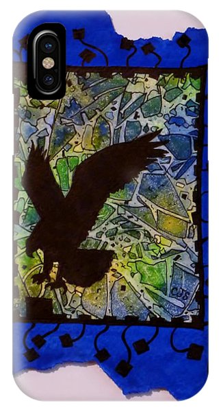 Landing Eagle Silhouette IPhone Case