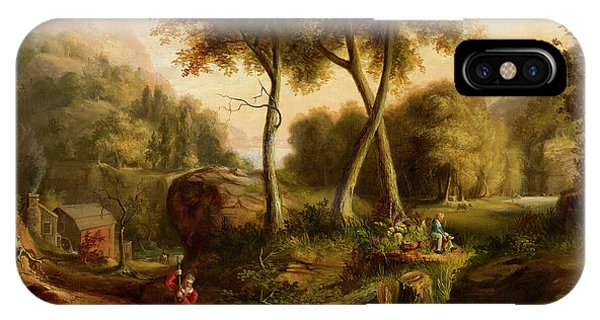 Rocky Mountain iPhone Case - Landscape, 1825 by Thomas Cole