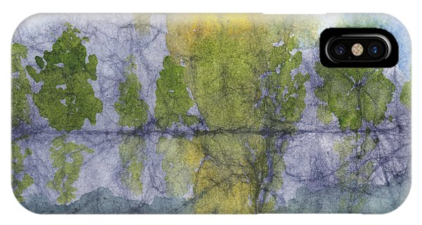 Landscape Reflection Abstraction On Masa Paper IPhone Case