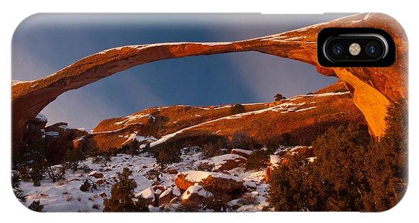 Landscape Arch Sunrise IPhone Case