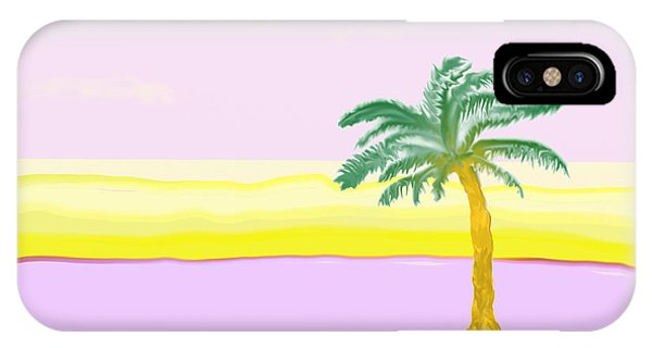Landscape In Pink And Yellow IPhone Case