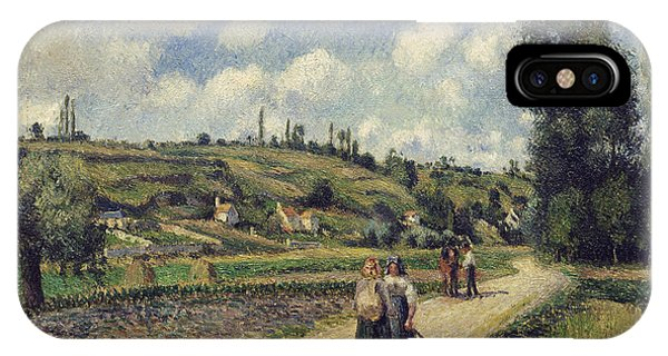 Hill iPhone Case - Landscape Near Pontoise by Camille Pissarro