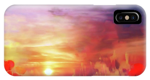 Landscape Of Dreaming Poppies IPhone Case