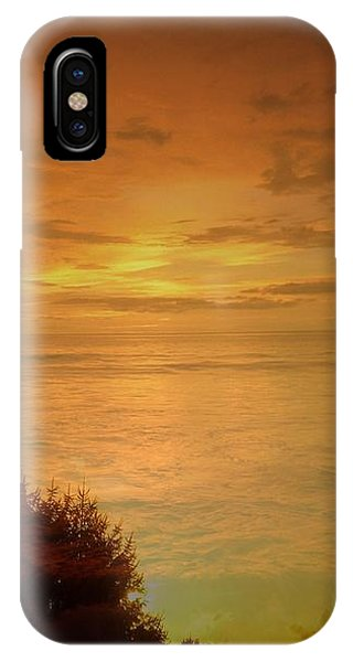 Landscape Over Sky And Ocean Sunrise IPhone Case
