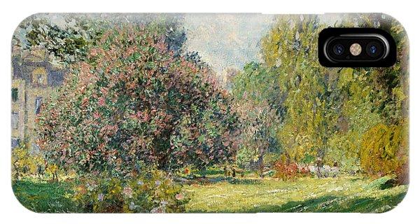 French Painter iPhone Case - Landscape- Parc Monceau  by Claude Monet