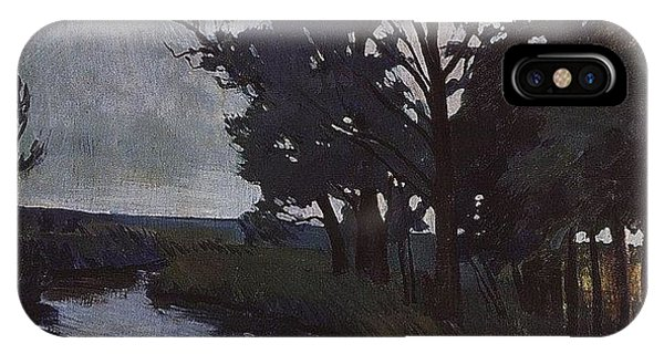 iPhone Case - Landscape With A River Zinaida Serebryakova by Eloisa Mannion