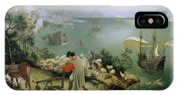 Landscape With The Fall Of Icarus IPhone Case