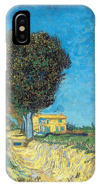 IPhone Case featuring the painting Lane Near Arles by Van Gogh