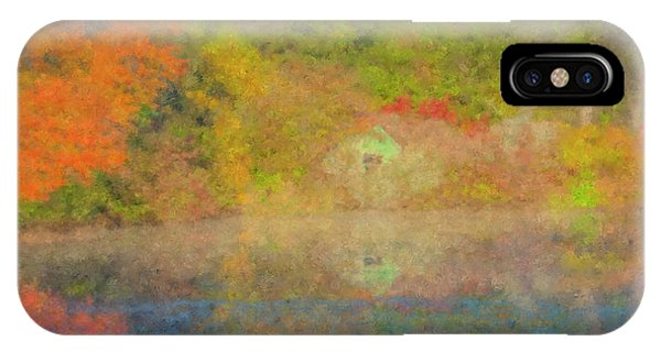 Langwater Pond Boathouse October 2015 IPhone Case