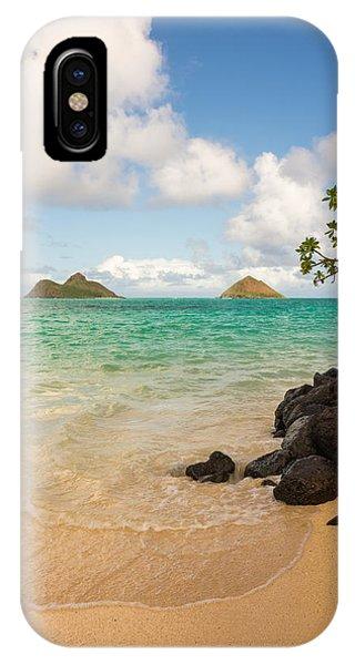 Simple Landscape iPhone Case - Lanikai Beach 1 - Oahu Hawaii by Brian Harig