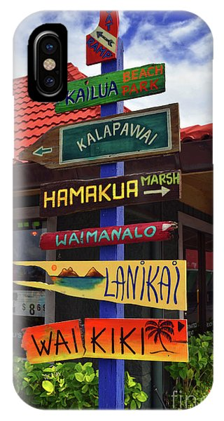 Lanikai Kailua Waikiki Beach Signs IPhone Case
