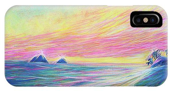 IPhone Case featuring the painting Lanikai Sunrise by Angela Treat Lyon