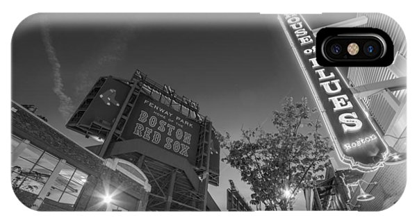 Lansdowne Street Fenway Park House Of Blues Boston Ma Black And White IPhone Case