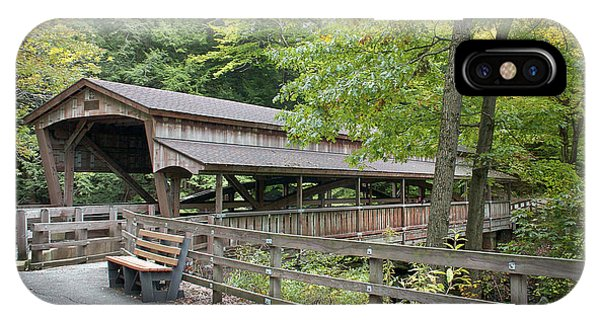 Lanterman's Mill Covered Bridge IPhone Case