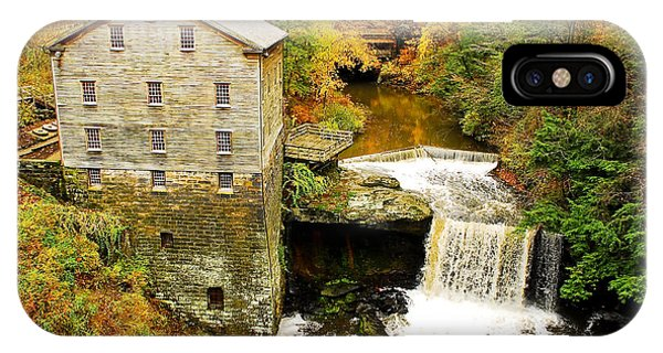 Amish iPhone Case - Lantermans Mill In Fall by Tony  Bazidlo