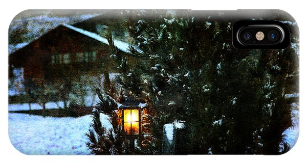 Lantern In The Woods IPhone Case