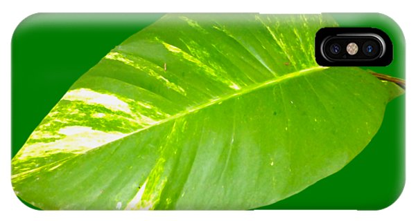 IPhone Case featuring the digital art Large Leaf Art by Francesca Mackenney