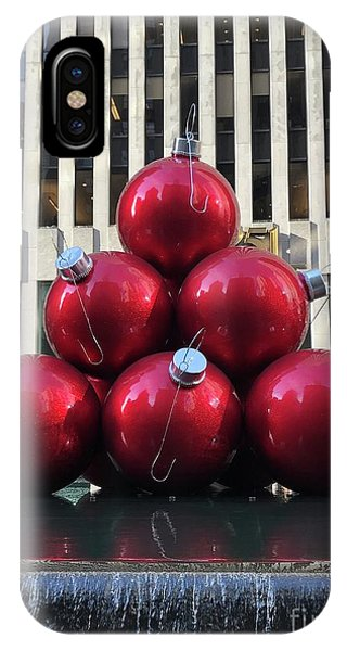 Large Red Ornaments IPhone Case