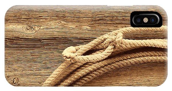 Lariat On Wood IPhone Case