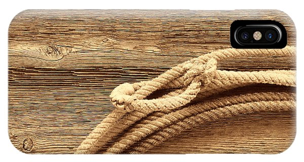Lariat On Wood IPhone Case