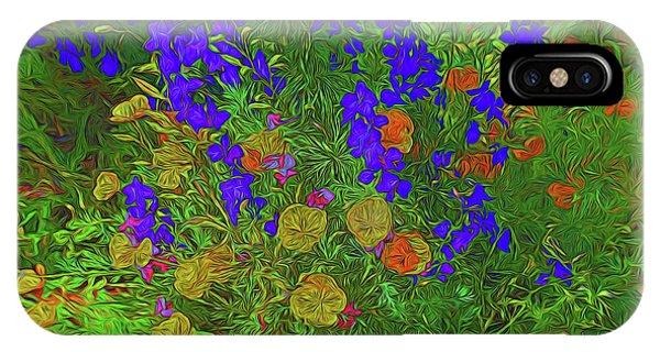 Larkspur And Primrose Garden 12018-3 IPhone Case