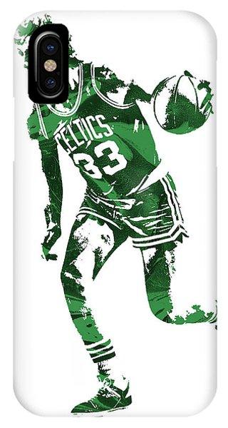 Celtics iPhone Case - Larry Bird Boston Celtics Pixel Art 10 by Joe Hamilton