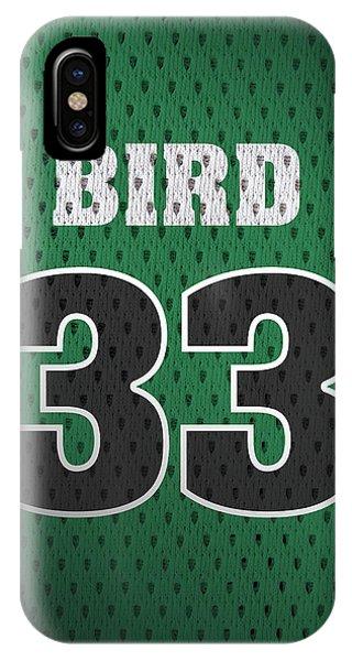 Larry Bird Boston Celtics Retro Vintage Jersey Closeup Graphic Design IPhone Case