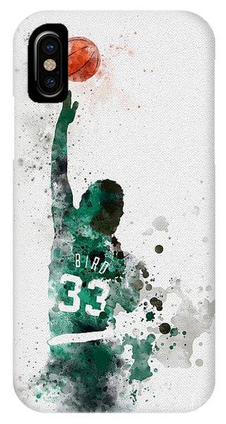 Basketball iPhone Case - Larry Bird by Rebecca Jenkins