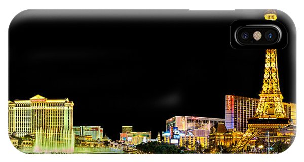 Palace iPhone X Case - Las Vegas At Night by Az Jackson