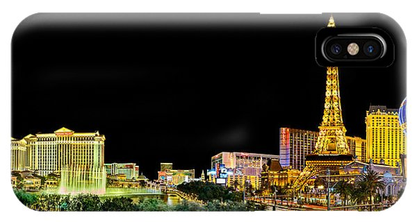 Paris iPhone Case - Las Vegas At Night by Az Jackson