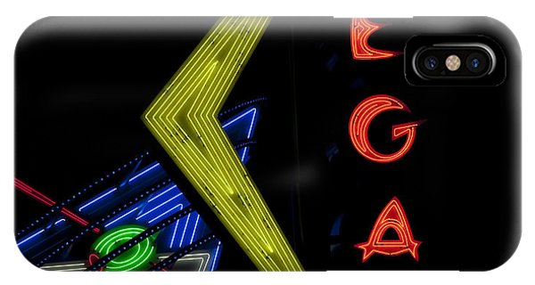 Neon iPhone Case - Las Vegas Neon Sign by Mindy Sommers