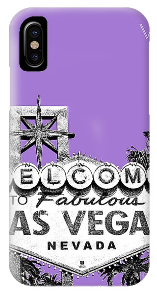 Las Vegas Sign - Purple IPhone Case