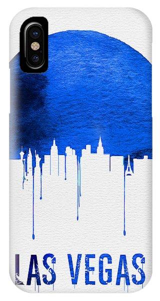 Las Vegas iPhone X Case - Las Vegas Skyline Blue by Naxart Studio