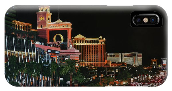 Las Vegas Strip Oil On Canvas Painting IPhone Case