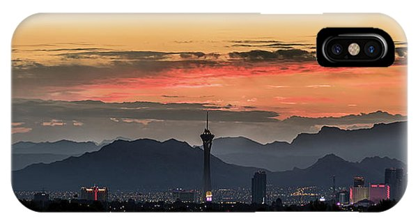 IPhone Case featuring the photograph Las Vegas Sunrise July 2017 by Michael Rogers