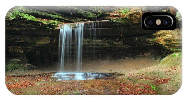 Waterfall iPhone Case - Lasalle Canyon Waterfall 3 by Greg Matchick