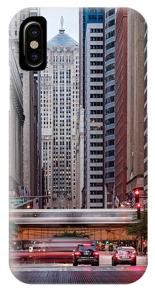 Ben Affleck iPhone Case - Lasalle Street Canyon With Chicago Board Of Trade Building At The South Side II - Chicago Illinois by Silvio Ligutti