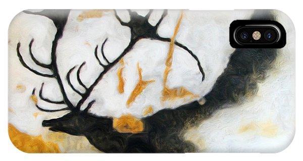 Lascaux Megaceros Deer 2 IPhone Case
