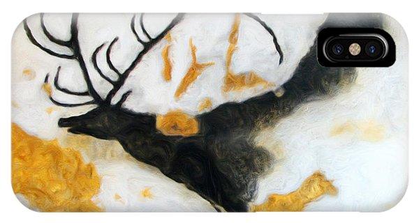 Lascaux Megaceros Deer IPhone Case