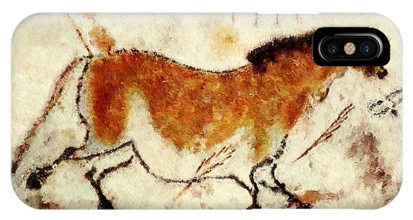 Lascaux Prehistoric Horse IPhone Case