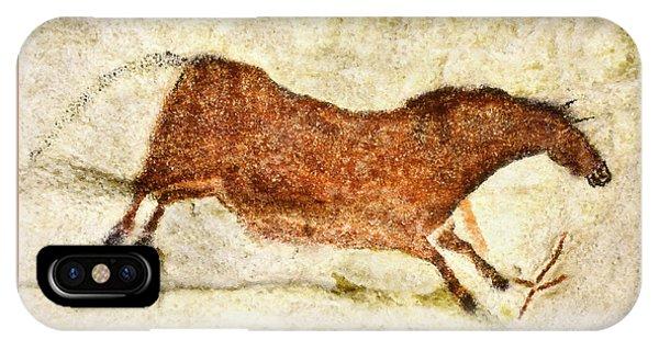 Lascaux Red Horse IPhone Case