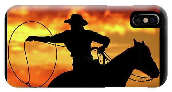 Lasso Sunset Cowboy IPhone Case