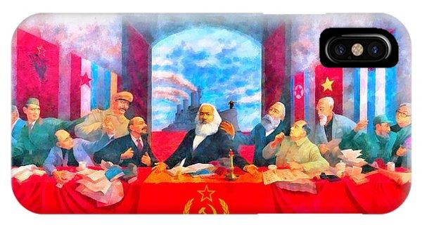 Capitalism iPhone Case - Last Communist Supper 20 - Da by Leonardo Digenio