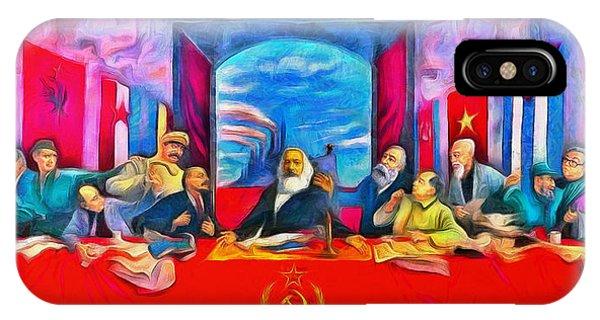 Capitalism iPhone Case - Last Communist Supper 40 - Da by Leonardo Digenio