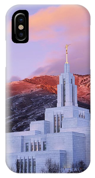 Last Light At Draper Temple IPhone Case